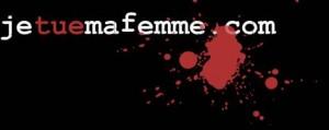 logo rouge et noir du site web www.jetuemafemme.com