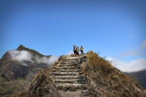 En haut d'une montagne du Cap Vert, dans les nuages, argh