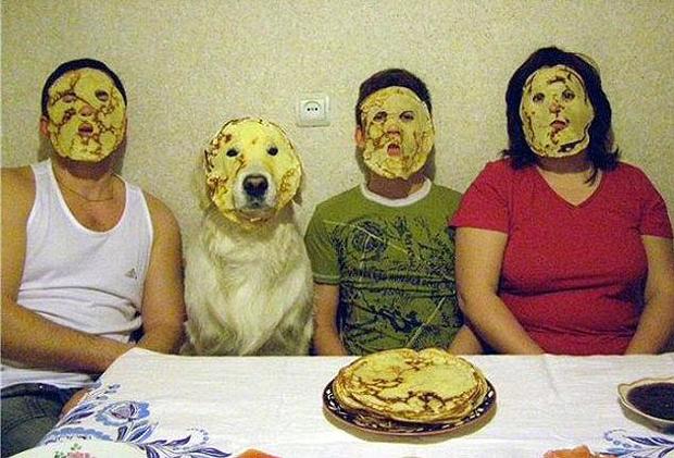Chandeleur en famille avec chien