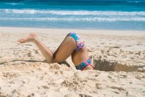 creuser sable