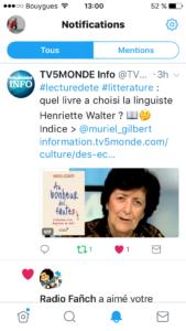 Henriette Walter et TV5Monde choisissent Au bonheur des fautes