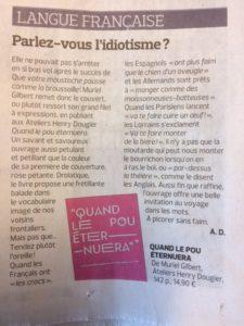 Pou dans Figaro litteraire 22 02 18